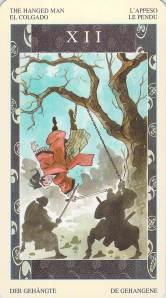 The Hanged Man--Samurai Tarot
