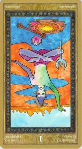 The Magician reversed--Yoga Tarot