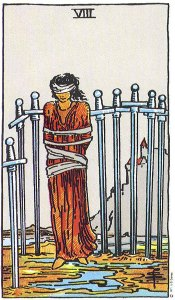 Eight of Swords--Rider Waite