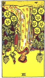 Nine of Pentacles reversed