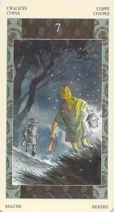 Seven of Chalices--Samurai Tarot