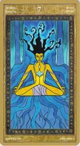 Seven of Swords--Yoga Tarot
