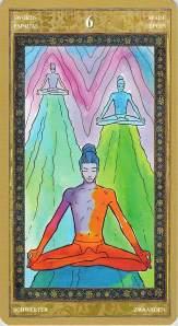 Six of Swords--Yoga Tarot