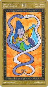 The Lovers--Yoga Tarot