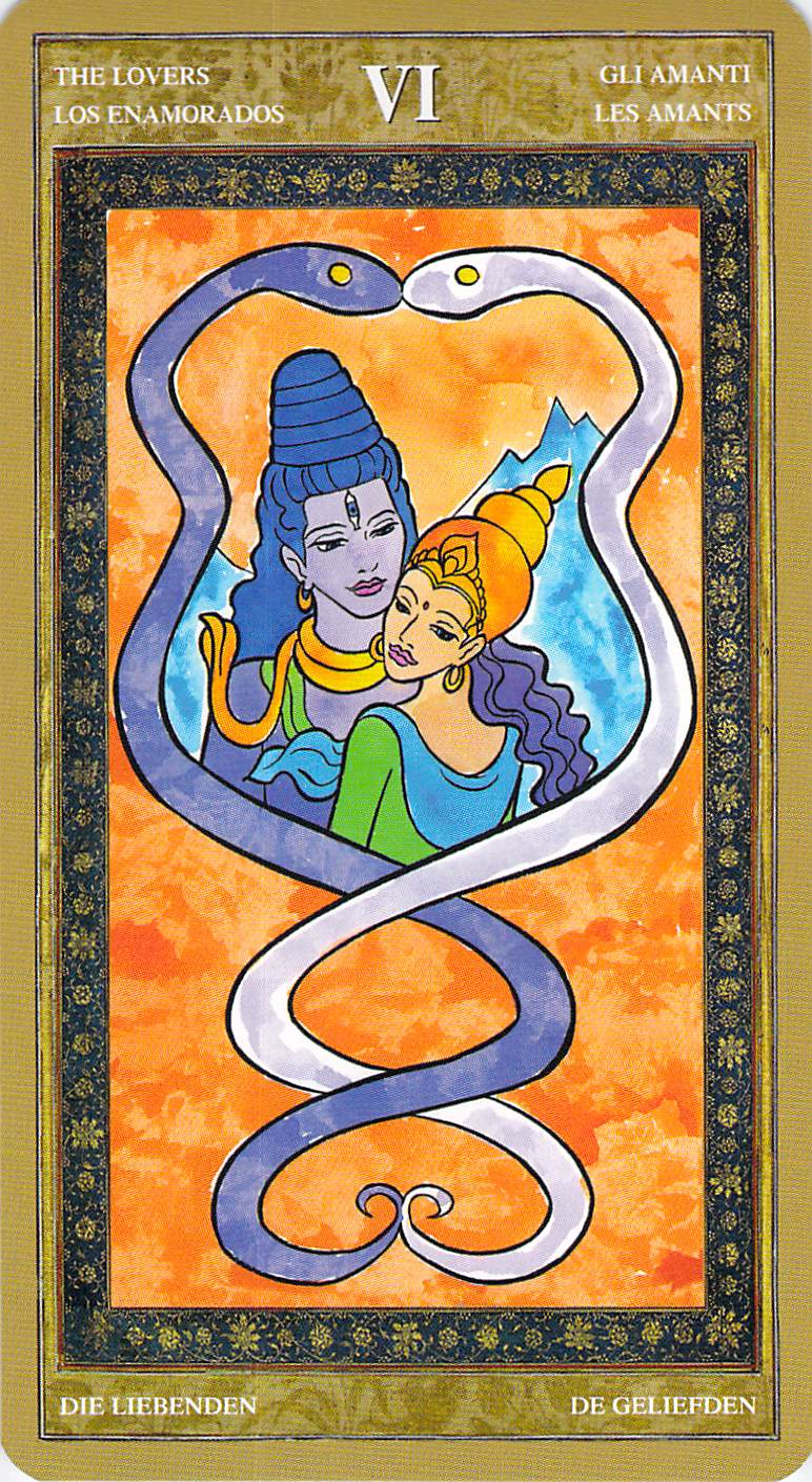 The Lovers--Yoga Tarot