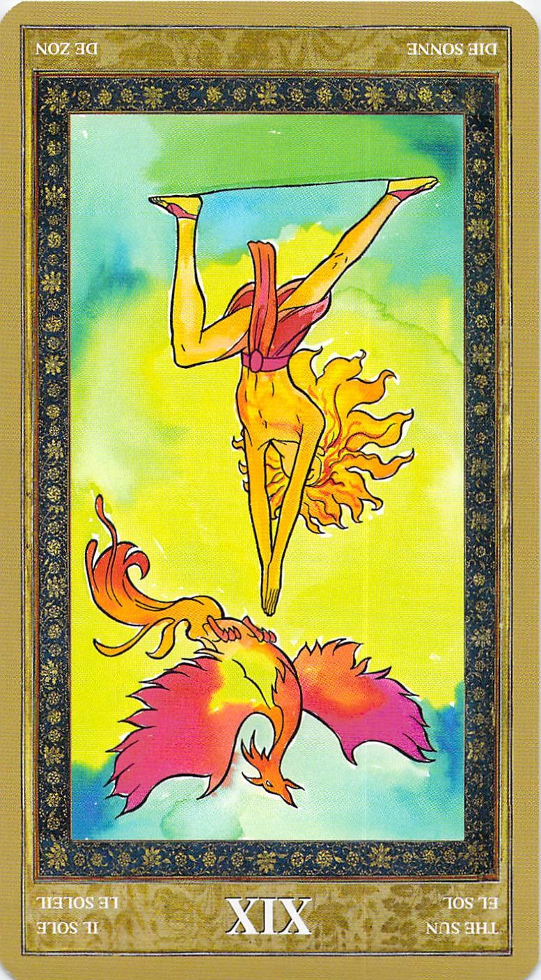 The Sun reversed--Yoga Tarot