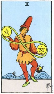 Two of Pentacles--Rider-Waite