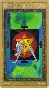 Four of Pentacles--Yoga Tarot