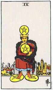 Four of Pentacles--Rider-Waite
