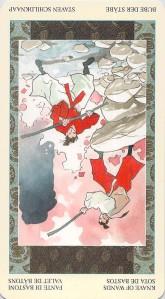 Knave of Wands--Samurai Tarot