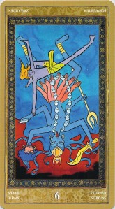 Nine of Swords reversed--Yoga Tarot