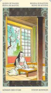 Queen of Wands--Samurai Tarot