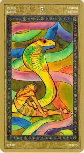 Seven of Wands--Yoga Tarot