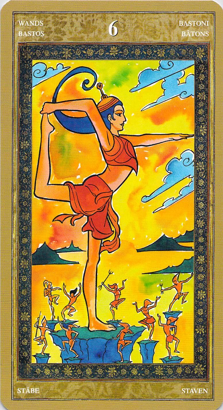 Six of Wands--Yoga Tarot