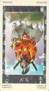 The Devil reversed--Samurai Tarot