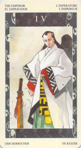 The Emperor--Samurai Tarot