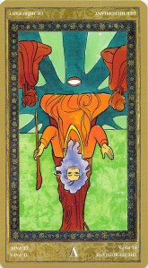 The Hierophant reversed--Yoga Tarot