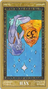 The Stars reversed--Yoga Tarot