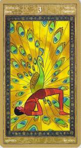 Three of Pentacles--Yoga Tarot