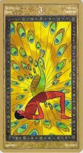 Three of Pentacles--Yoga Tarot