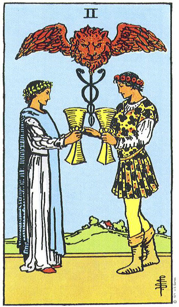 Two of Cups--Rider-Waite