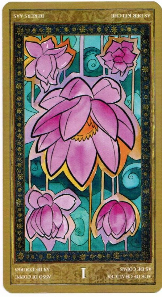 Ace of Chalices reversed--Yoga Tarot