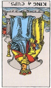 King of Cups reversed--Rider-Waite
