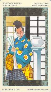 Knave of Chalices--Samurai Tarot