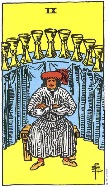 Nine of Cups--Rider-Waite