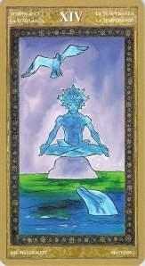 Temperance--Yoga Tarot
