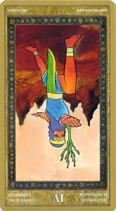 The Emperor reversed--Yoga Tarot