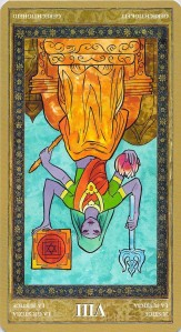 Justice reversed--Yoga Tarot
