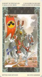 Knight of Pentacles--Samurai Tarot