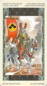 Knight of Pentacles--Samurai Tarot