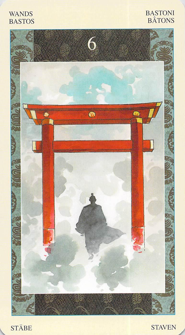 Six of Wands--Samurai Tarot