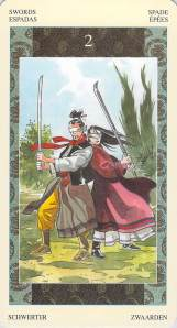 Two of Swords--Samurai Tarot