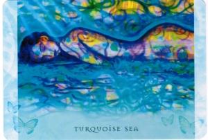 Turquoise Sea -- Universal Wisdom deck by Toni Carmine Salerno
