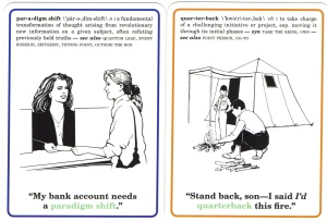 quarterback, paradigm shift, Corporate Flash Cards