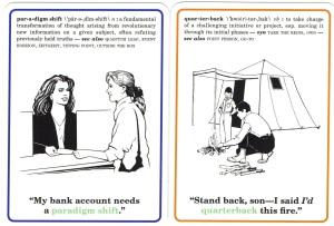 quarterback, paradigm shift, Corporate Flash Cards