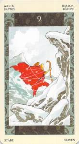 Nine of Wands--Samurai Tarot