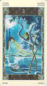 Two of Wands--Samurai Tarot
