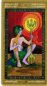 Knave of Wands--Yoga Tarot