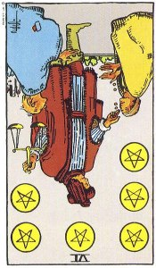 Six of Pentacles--Reversed!