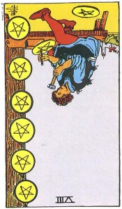Eight of Pentacles--Reversed