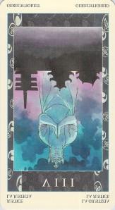 Justice reversed -- Samurai Tarot