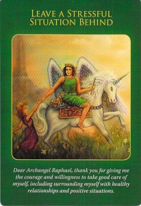 Leave a Stressful Situation Behind -- Archangel Raphael cards