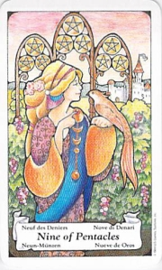 Nine of Pentacles -- from Tarot to Go