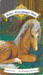 Relax, Everything's Okay, Magical Unicorn Oracle Cards