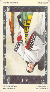 The Emperor reversed -- Samurai Tarot