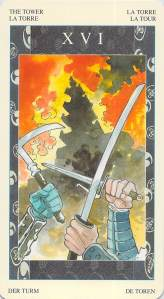 The Tower, Samurai Tarot